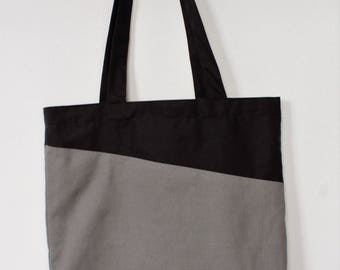 Tote bag | reversible bag | canvas bag | market bag | beach bag |two colours | printed inside | fish