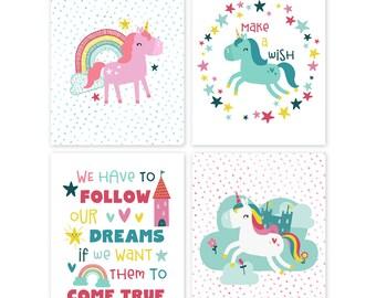 Unicorn Nursery. Unicorn Nursery Decor. Unicorn Nursery Art. Printable Unicorn Art. Unicorn Nursery Prints. Unicorn Wall Art. Unicorn Decor.