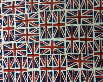 Union Jack Fabric 100% Cotton Material By Metre Colourful Patchwork Cushions Bags Bunting