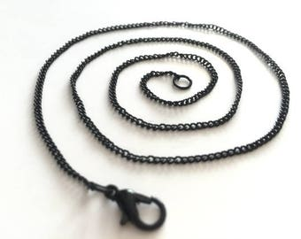 18-30inch adjustable---wholesale 100pieces 1.5mm 18inch-30inch black cable necklace chains