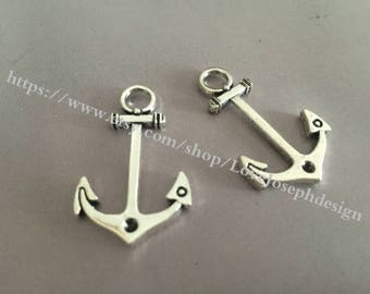 wholesale 50 Pieces /Lot Antique Silver Plated 20mmx33mm Anchor Charms(#013)