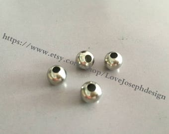 wholesale 50 Pieces /Lot silver Plated 8mm space beads (#087)