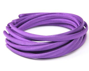 10pieces dark purple satin plastic hair headband covered 10mm wide