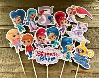 Shimmer & Shine Cupcake Toppers