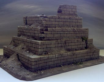 Wargaming terrain: Block Pyramid for Warhammer, Warhammer 40K, Dungeons & Dragons, Age of Sigmar, and other Miniature War-games!