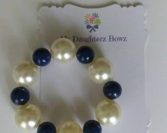 Kids bracelet - kids jewelry - ready to ship - school bracelet - blue bracelet - custom jewelry - beaded bracelet - gumball bracelet