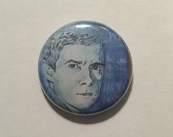 Martin Freeman as John Watson Button