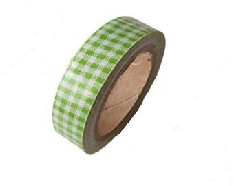 Masking Tape, masking tape 1 scrapbooking lime GINGHAM fabric