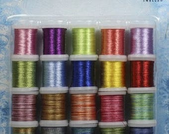 Set of 20 spools of thread to embroider cards lot 004