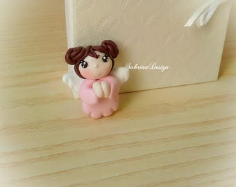 Angel girl favors, polymer clay favors, baptism favors, baby shower favors, angel birthday, angel communion favors