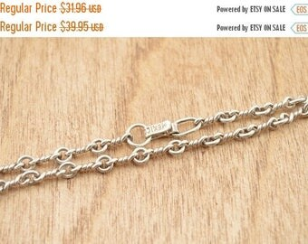 BIG SALE On Sale Twisted Link Chain Necklace Sterling Silver 12g