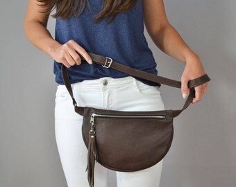 Leather Pocket Belt, Leather Fanny Pack, Fanny Pack Leather, Hip Bag, Leather Pouch, Belt bag, Fanny Pack, Leather Woman Bag,