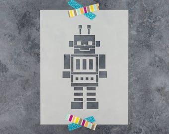 Robot Stencil - Reusable DIY Craft Stencils of a Robot