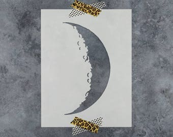Crescent Moon Stencil - Reusable DIY Craft Stencils of a Crescent Moon