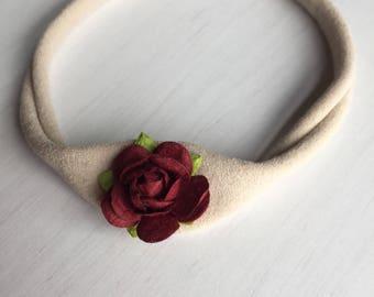 Flower crown, flower headband,  flower crown, baby headband, nylon headband,