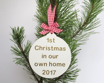 First Home Gift - New Home - First Christmas - Christmas Decoration - Christmas Bauble - Christmas Gift - Christmas Ornament - Bauble