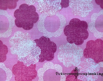 coupon 45 x 53 cm fat quarter sewing small STYLIZED flowers baby girl
