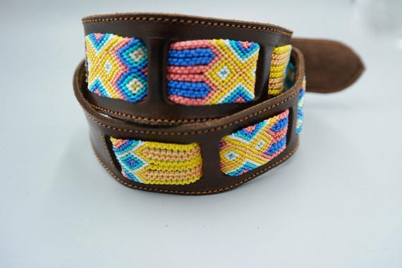 Woven Macrame Leather Belt SZ 32