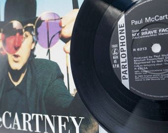 "Paul McCartney - 'My Brave Face' 7"" Single Vinyl Record"