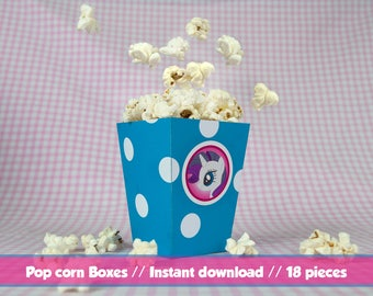 My little pony Popcorn Box / / Printable popcorn box MLP