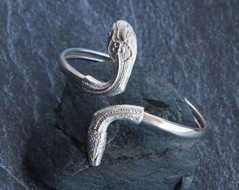 cuff bracelet snake bracelet Silver Boho bracelet for women Silver bracelet Silver Snake jewelry Silver mens cuff bracelet gift birthday gif