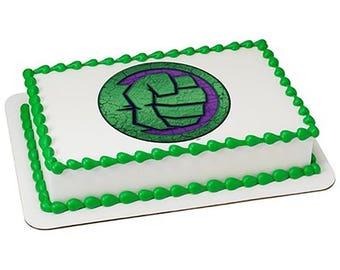 Avengers Hulk Fist Edible Cake Topper