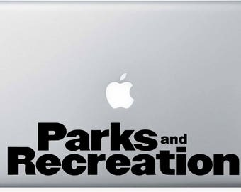 Parks and Recreation Vinyl Macbook Sticker