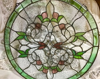 Hanging Leaded Glass