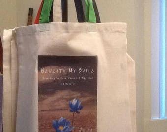 Canvas Tote Bags with Colored Handles