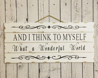 Wonderful World Etsy