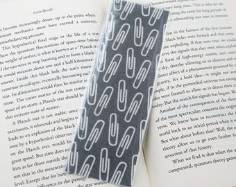 Grey Paperclip Bookmark