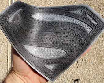 Return of Superman Mini Black and Silver Emblem, Justice League, Batman v Superman