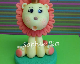 Lion cake topper. Safari cake topper. Jungle Animal cake topper.