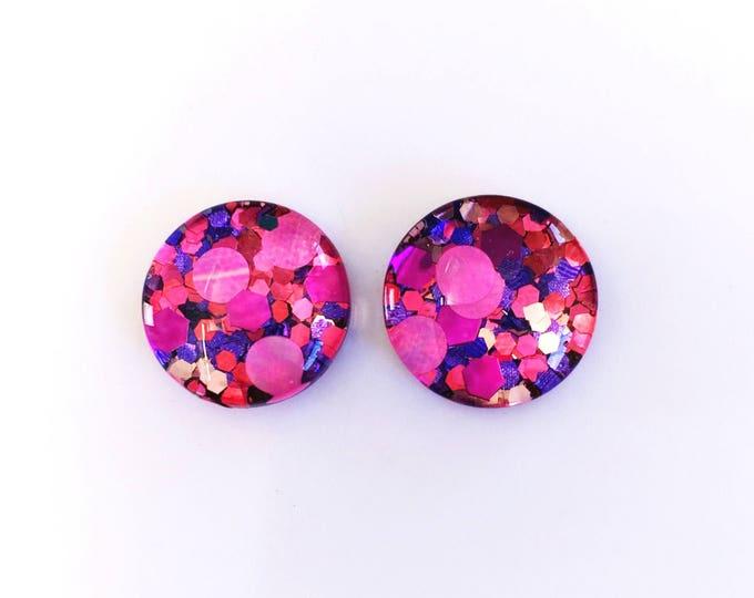 The 'Desire' Glass Glitter Earring Studs