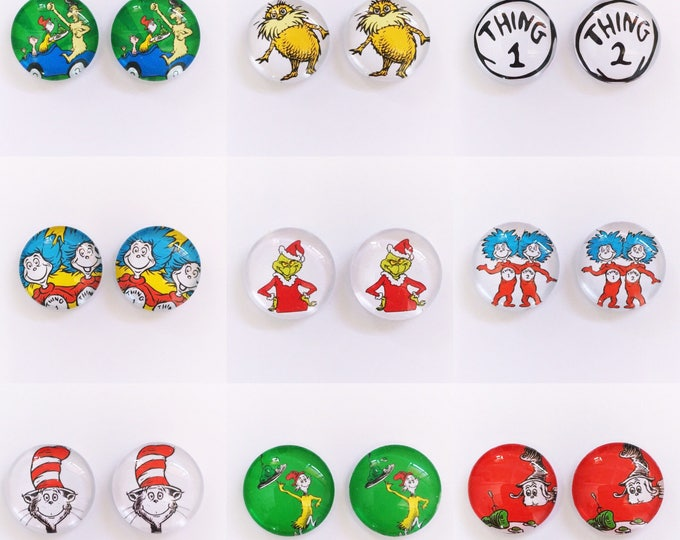 The 'Dr. Seuss' Glass Earring Studs