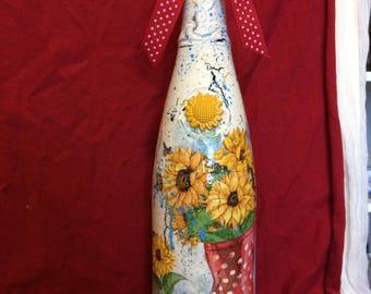 Sunflower bottle art