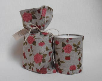 ROSE scented fragrance extracts, red floral linen