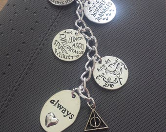 Wizard Planner Charm//Magical Keychain//Bag Charm