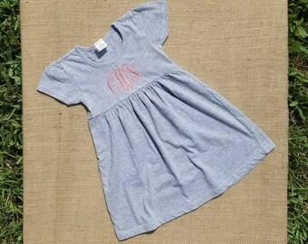 Monogrammed Toddler/Kids Dress (embroidered)