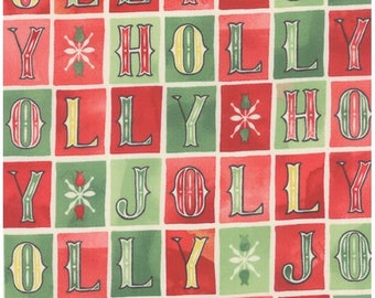 Evergreen Holly Jolly Cherry by Basic Grey for Moda