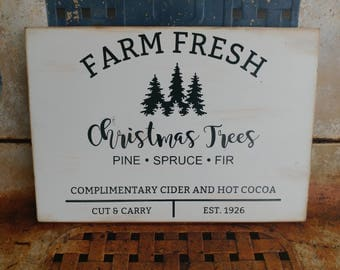 Handmade Rustic Christmas Tree Sign