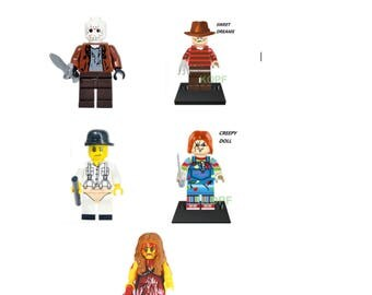 Custom made Horror Exorcist The Ring Jason Freddy Chucky  The Nightmare Before Christmas ***choose one***  compatible with Lego Collection