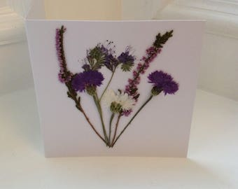 Pressed Flower Card / Greetings Card for all Occasions
