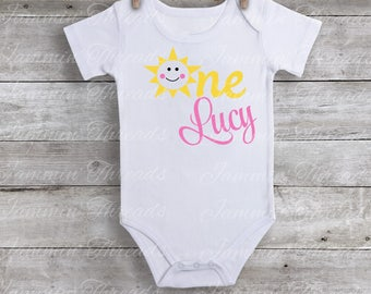 Personalized You are my Sunshine / First Birthday / Birthday Shirt / Sunshine birthday Party / Birthday Shirt / 1st Birthday/