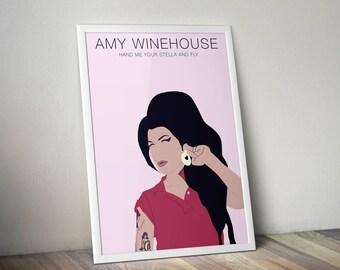 Amy Winehouse A3 Print Home Decor Wall Art