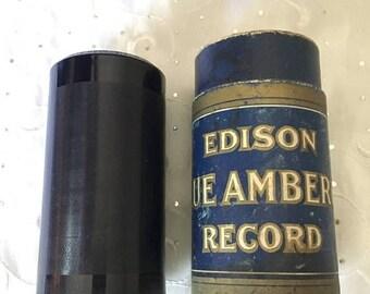 ON SALE Vintage Edison Blue Amberol 4 minute Cylinder Record 2270 Rebecca Of Sunny-Brook Farm Campbell & Gillette