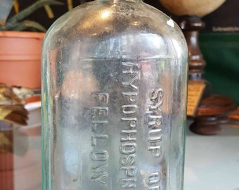 antique medical syrup bottle