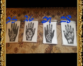 New Designs! 1 REUSABLE HENNA STENCIL