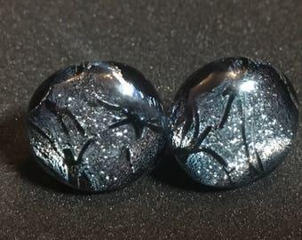 Silver Stickle Stud Earrings