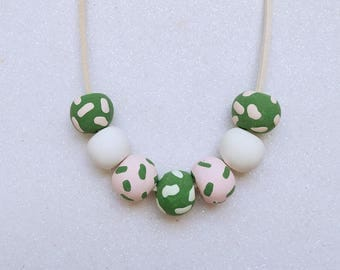 Carly Polymer Bead Necklace